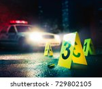 police car at a crime scene... | Shutterstock . vector #729802105