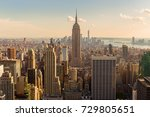 manhattan midtown skyline with... | Shutterstock . vector #729805651