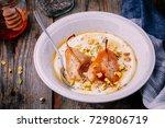 healthy breakfast bowl  yogurt... | Shutterstock . vector #729806719