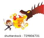 vector cute business man... | Shutterstock .eps vector #729806731