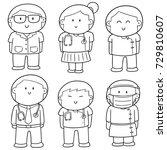 vector set of medical staff | Shutterstock .eps vector #729810607