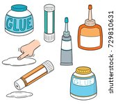 vector set of glue | Shutterstock .eps vector #729810631