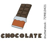 vector set of chocolate | Shutterstock .eps vector #729813421