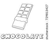 vector set of chocolate   Shutterstock .eps vector #729813427
