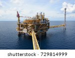 the offshore oil rig in the... | Shutterstock . vector #729814999