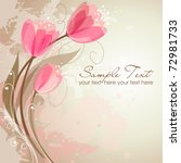 romantic flower background | Shutterstock .eps vector #72981733