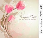 Stock vector romantic flower background 72981733