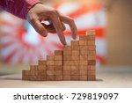 business goals | Shutterstock . vector #729819097