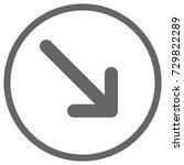 pointer  arrow in modern flat... | Shutterstock .eps vector #729822289