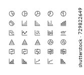 minimal icon set of graph and...