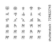 minimal icon set of finger...