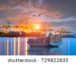 logistics and transportation of ... | Shutterstock . vector #729822835