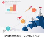 business pyramid infographic... | Shutterstock .eps vector #729824719