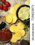 mexican nachos chips with... | Shutterstock . vector #729825871