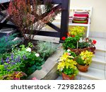 vases on the summer patio