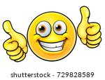 an illustration of a happy... | Shutterstock .eps vector #729828589