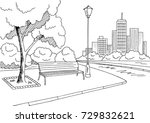 street road graphic black white ... | Shutterstock .eps vector #729832621