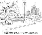 street road graphic black white ... | Shutterstock .eps vector #729832621