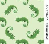 reptile chameleon amphibian... | Shutterstock .eps vector #729836779