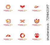 set icon logo vector. contains...   Shutterstock .eps vector #729842197
