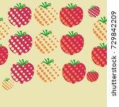 tomato seamless  halftone...   Shutterstock .eps vector #729842209