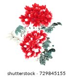 chinese brush and ink... | Shutterstock . vector #729845155