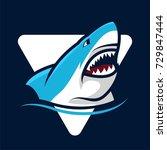 shark logo emblem   Shutterstock .eps vector #729847444