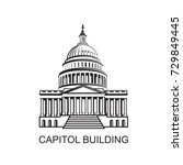 united states capitol building... | Shutterstock .eps vector #729849445