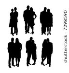 silhouette of business people | Shutterstock .eps vector #7298590