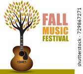 fall music festival art with a...   Shutterstock .eps vector #729867271