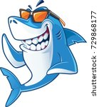 smiling  shark cartoon mascot... | Shutterstock .eps vector #729868177