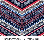 cool ethnic geometric design.... | Shutterstock .eps vector #729869401