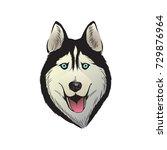 husky dog illustration | Shutterstock .eps vector #729876964