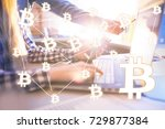 decentralized finance banking... | Shutterstock . vector #729877384