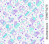 epilepsy seamless pattern with... | Shutterstock .eps vector #729877675
