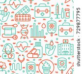 diabetes seamless pattern with...   Shutterstock .eps vector #729877795