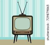 retro tv in the interior....