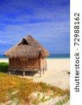 Cabin Palapa Hut Caribbean Sea...