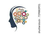 vector sign gears in head | Shutterstock .eps vector #729883951
