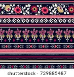 Seamless Floral Ethnic Pattern...