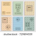 collection of sale banners ... | Shutterstock .eps vector #729894559