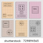 collection of sale banners ... | Shutterstock .eps vector #729894565