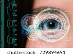 woman being futuristic vision... | Shutterstock . vector #729894691