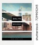 photo print brooklyn new york...   Shutterstock . vector #729905245