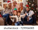 portrait of happy smiling... | Shutterstock . vector #729906085