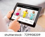 woman shopping online for new... | Shutterstock . vector #729908209