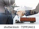 business of worldwide cargo... | Shutterstock . vector #729914611
