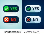 yes and no button with check... | Shutterstock .eps vector #729914674