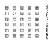 minimal icon set of browser and ...