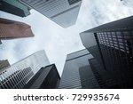 buildings in downtown toronto ... | Shutterstock . vector #729935674